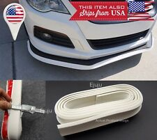 "1.3"" Wide White EZ Fit Bumper Lip Splitter Chin Trim Spoiler For Honda Acura"