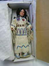 "Morning Song Judy Belle Native American Bride Doll 17"" tall Danbury Mint Vgc"