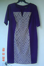 NWT CONNECTED PURPLE BEIGE CAREER DRESS SIZE 20 W $98