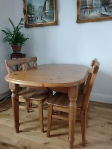 Dining Table and Chairs (Extendable wooden Kitchen table) SW2 Collection