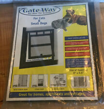 "Gate>Way Pet Door For Screens For Cats & Small Dogs 8"" x 9.5"" Opening Plastic"