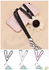 Diamonds Bling Diamante Neck Lanyard Strap Long Universal Phone ID Card Holder