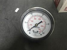 "Q904Z,WINTERS PRESSURE GAUGE,0-100psi/kpa,1/4"" BACK MOUNT -NEW-"
