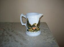 Vtg. / Antique Mellor & Co.E. PLURIBUS UNUM EAGLE Ceramic Pitcher Collectible