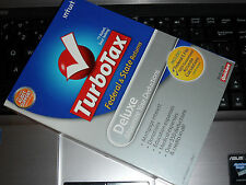 2008 TurboTax Deluxe Federal & State New CD sealed in original retail Box !