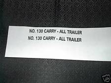 TONKA NO. 130 CARRY-ALL TRAILER DECAL