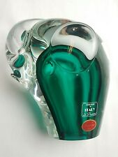 Murano Italy Green Glass Elephant S. Puccini