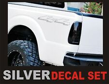 4x4 Truck Bed Decals, SILVER (Set) for Ford F-150 and Super Duty