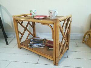 Bamboo Cane Coffee Table Tiki Boho Retro Vintage  Conservatory Postage available