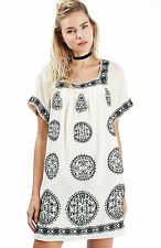 Topshop Embroidered Smock Dress in MULTICOLOR (US6) $125+