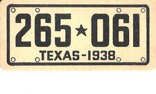 Texas 1938 Goudey Gum Co. collectable plate