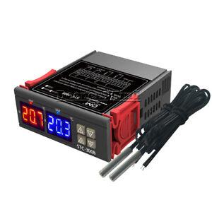 STC-3008 DC 12V Dual Probe Display Thermostat Temperature Controller NTC Sensor