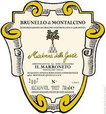 """1 MAGNUM BRUNELLO DI MONTALCINO DOCG """" MADONNA DELLE GRAZIE """" 2011  IL MARRONETO"""