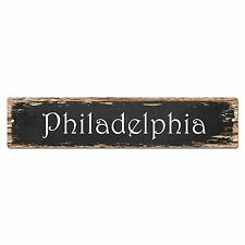 SP0170 Philadelphia Street Sign Bar Store Shop Pub Cafe Home Room Chic Decor