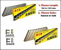 D.I.D DID 530 VX3 Xring Drive Chain Gold or Natural with Rivet Master Link