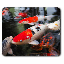 Computer Mouse Mat - Koi Carp Pond Fish Japanese Office Gift #21765