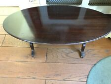 Antique Oval Mahogany Coffee Table
