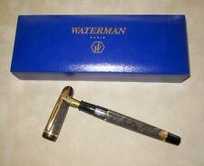 Waterman Phileas Fountain Pen with Box, Fine Steel Nib, Marbled Grey w/Converter