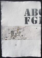 """Rapetti MOGOL """"Senza titolo"""" Carta cm 43x30 bellissima - Possenti Talani Matta"""