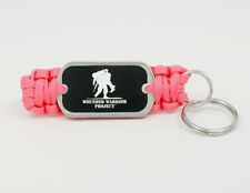 Wounded Warrior Project Survival Key Fob by Survival Straps (Pink paracord)