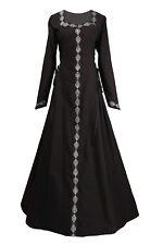 Mittelalter Gothic Karneval Halloween Gewand Kleid Estelle Schwarz XS S M L XL