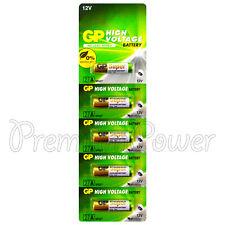5 x GP 27A Alkaline Super batteries 12V MN27 A27 GP27A E27A EL812 L828 Alarms