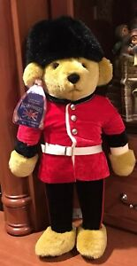 Merry Thought Teddy Bear England British Guard Toy Soldier Hand Made Plush