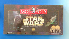 Star Wars Monopoly Game by Parker Brothers 1996 NEW SEALED Pewter Pawns
