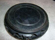 """Chinese Round Wooden Stand Base Dark Brown/Black 3"""" Diameter"""