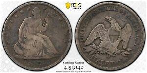 1859 O Seated Liberty Half Dollar PGCS Gold Shield VG10