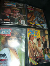 Doctor Who magazine x 4, Issues 110,74,175 and 157.