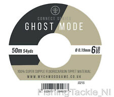 Wychwood Ghost Mode Fluorocarbon Tippet 50m Spools Fly Fishing Leader 10lb
