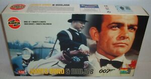 JAMES BOND 007 SEAN CONNERY & ODDJOB Model Kit 1/12 Scale Airfix Sealed NEW