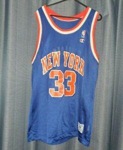 NBA New York Knicks #33 Ewing Vintage Champion Basketball Jersey Medium  Vest