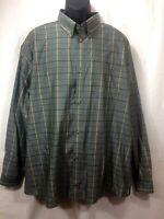 Guide Gear Button Down Long Sleeve Shirt Mens Size 2XL Green & Yellow Plaid