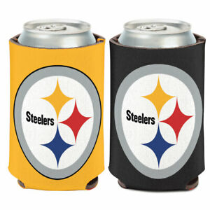 PITTSBURGH STEELERS CAN COOLER KOOZIE TWO SIDED NFL OFFICIALLY LICENSED