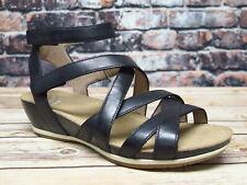 Dansko Veruca Waxy Burnished Black Leather Sandal  *1526-471200