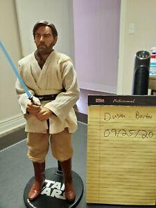 "Sideshow Collectibles Star Wars Obi-Wan Kenobi Jedi Master 12"" 1/6 Scale no box"