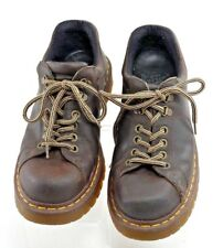 DR DOC MARTENS 8312 Men's Size 7.5 (UK 7) M Oiled Brown Leather Air Wair Oxfords