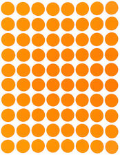 Orange Color Coding Labels In Various Sizes 8mm 38mm 1 15 Sheets