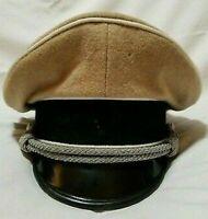 Replica WW2 German Desert officer Hat Cap Visor WWII Officer Cap