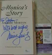 Monica Lewinsky Signed Monica's Story w/ JSA COA #M93371  Book Bill Clinton