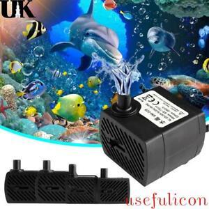 NEW Small Submersible Water Pump Fish Tank Pond Aquarium Fountain Pump Feature