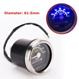 Motorcycle LCD Digital Speedometer Odometer Double Mileage Kilometer MPH km / h