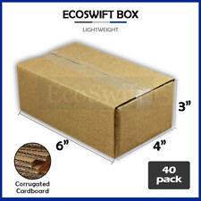 40 6x4x3 Cardboard Packing Mailing Moving Shipping Boxes Corrugated Box Cartons