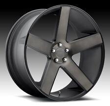 24x9 Dub Baller S116 5x115 ET15 Black Machine DDT Wheels (Set of 4)