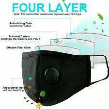 2 Adult MASKs & 50PCS Filters Washable Reusable FACE MASKA Respirator