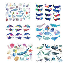 Fish Dolphin Whale Cartoon Temporary Tattoo Sticker Kids Children Teens 15X11cm