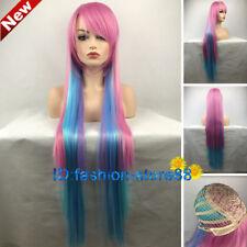 NO GAME NO LIFE Multicolor Gradient Cosplay Wigs + Free wig cap
