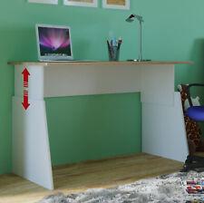 Desk Sonoma White 110cm Wide Adjustable Height 55-75 Jugendschreibtisch